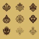 De verschillende elementen van het stijlontwerp Stock Afbeeldingen