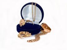 De verschillende gouden (Engelse) versiering. Royalty-vrije Stock Foto's