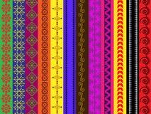 De verschillende grenzen van de kleurenHenna Royalty-vrije Stock Foto's