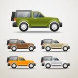 De verschillende illustratie van kleurenauto's Stock Fotografie