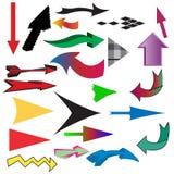 De verschillende inzameling van de kleurenpijl Stock Fotografie