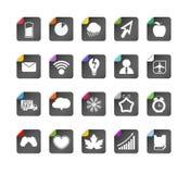De verschillende inzameling van kleurenknopen Stock Afbeelding