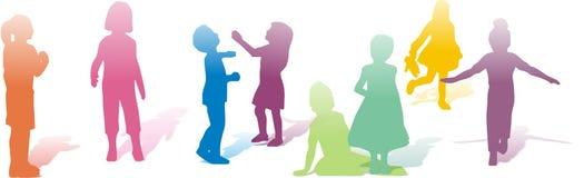 De verschillende kinderen spelen Royalty-vrije Stock Afbeeldingen