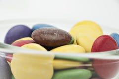 De Verschillende Kleuren van het chocoladesuikergoed Stock Foto