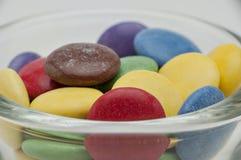 De Verschillende Kleuren van het chocoladesuikergoed Stock Afbeeldingen