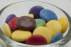 De Verschillende Kleuren van het chocoladesuikergoed Stock Fotografie