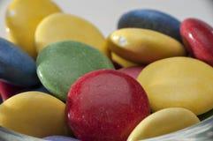 De Verschillende Kleuren van het chocoladesuikergoed Royalty-vrije Stock Fotografie