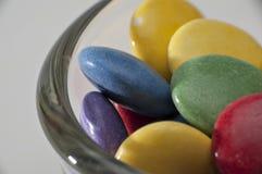 De Verschillende Kleuren van het chocoladesuikergoed Stock Foto's