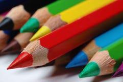 De verschillende kleuren van potloden Royalty-vrije Stock Foto's