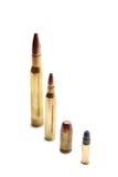De verschillende Kogels van het Kaliber Stock Afbeelding