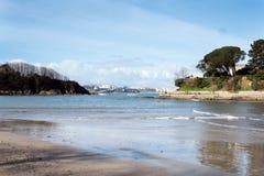 De verschillende meningen van een strand van de zomer nemen in de baai van La zijn toevlucht Coruna Stock Foto's
