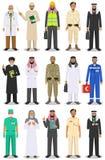 De verschillende mens van het beroepskarakters van mensenberoepen plaatste in vlakke die stijl op witte achtergrond wordt geïsole royalty-vrije illustratie