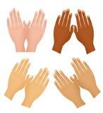 De verschillende naties van handen stock illustratie