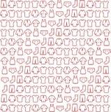 De verschillende reeks van het de schetspictogram van typeskleren Stock Foto