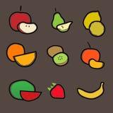 De reeks van het fruit Stock Foto