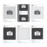 De verschillende sociale kaders van de netwerkfoto Stock Foto
