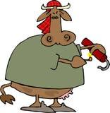 De Verschrikking van de koe royalty-vrije illustratie