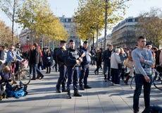 De verschrikkingsaanval november 2015 van Parijs Stock Afbeeldingen