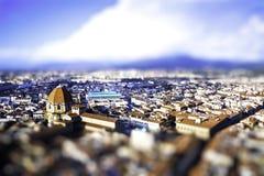 De Verschuiving van de schuine stand Florence - Italië royalty-vrije stock foto's