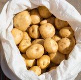 De verse aardappels is in de zak Stock Afbeelding