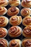 De verse Broodjes van de Kaneel Stock Foto's