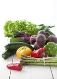 De verse groenten van de landbouwersmarkt stock foto