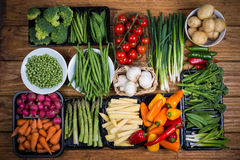 De verse groenten van het landbouwbedrijf
