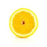 De verse helft van citroen op wit Stock Fotografie
