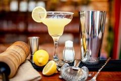 De verse kalk Margarita diende in bar en casino royalty-vrije stock foto