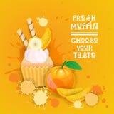 De verse Muffin kiest Uw het Dessert Heerlijk Voedsel van Smaaklogo cake sweet beautiful cupcake Royalty-vrije Stock Foto's