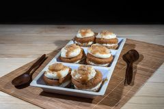 De verse Muffins van de Banaannoot Royalty-vrije Stock Afbeeldingen