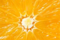 De verse oranje helft stock foto's