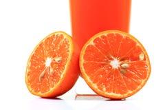 De verse oranje helften Stock Fotografie