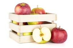 De verse rode appel James treurt geïsoleerd op wit royalty-vrije stock afbeeldingen