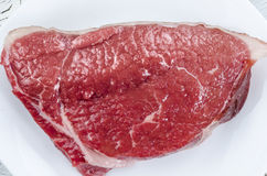 De verse ruwe close-up van het rundvleeslapje vlees Royalty-vrije Stock Foto