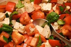 De verse Salade van de Tomaat Royalty-vrije Stock Fotografie
