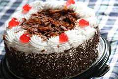 De verse scherpe cake van de Chocolade stock afbeelding