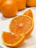 De verse Sinaasappel van de Besnoeiing Stock Foto