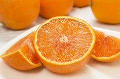 De verse Sinaasappel van de Besnoeiing Royalty-vrije Stock Foto