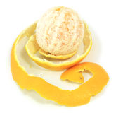 De verse sinaasappel van de schil stock foto