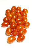 De verse tomaten van de Kers die op wit worden geïsoleerdp Royalty-vrije Stock Afbeelding