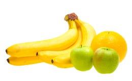 De verse vruchten van de close-up die op wit worden geïsoleerde Stock Fotografie