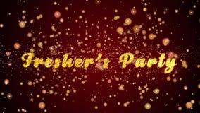 De versere van de de Partijgroet van ` s van de de kaarttekst glanzende deeltjes voor viering, festival stock illustratie
