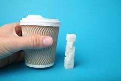 De verslaafde van de suikerdrank, koolhydraat Culinaire allergie royalty-vrije stock foto