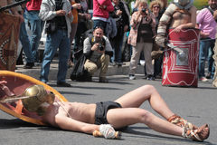 De Verslagen Gladiator van Rome Parade Stock Foto
