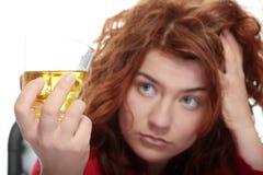 De verslaving van de alcohol Stock Foto's