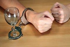 De verslaving van de alcohol Stock Afbeeldingen