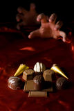 De verslaving van de chocolade royalty-vrije stock fotografie