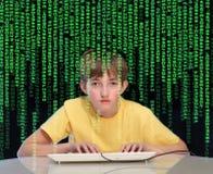 De verslaving van de computer Stock Afbeeldingen