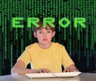De verslaving van de computer Stock Foto's